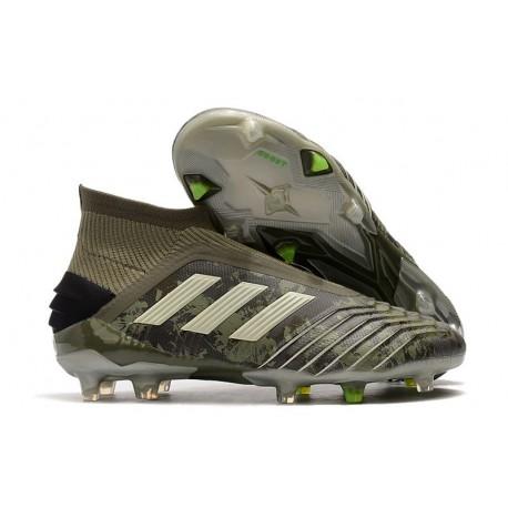 adidas Nouvelles Chaussures Predator 19+ FG - Héritage Vert Sable