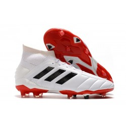 Chaussures Football adidas Predator Mania 19.1 FG ADV Blanc Noir