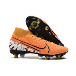 Nike Mercurial Superfly VII Elite SG-PRO AC Orange Blanc Noir