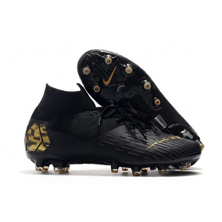 Nike Mercurial Superfly 7 Elite Pro AG Noir Or