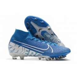 Nike Mercurial Superfly 7 Elite Pro AG New Lights Bleu Blanc