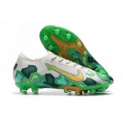 Nike Mercurial Vapor 13 Elite Pro-AG Mbappe Blanc Vert Or