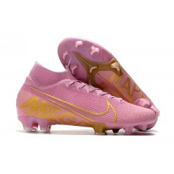 Crampon Neuf Nike Mercurial Superfly 7 Elite FG -Rosa Or