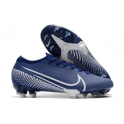 Nike Mercurial Vapor 13 Elite FG Homme Bleu Blanc