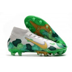 Nike Mercurial Superfly 7 Elite Pro AG Mbappe Gris Vert Or