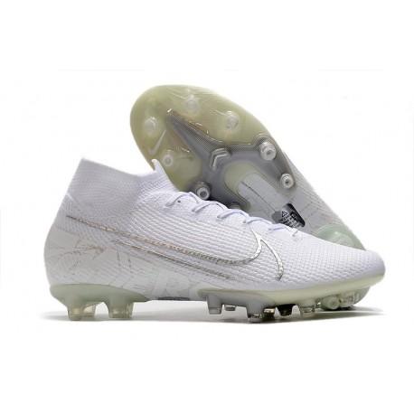 Nike Mercurial Superfly 7 Elite Pro AG Blanc
