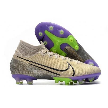 Nike Mercurial Superfly 7 Elite Pro AG Sable du Désert Noir Violet