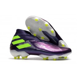 adidas Chaussures de Foot Nemeziz 19+ FG Viola Jaune