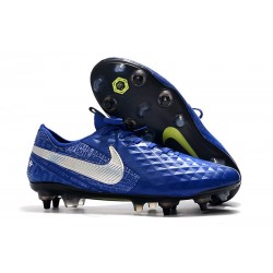 Chaussures Nike Tiempo Legend 8 Elite SG-Pro AC Bleu Argent