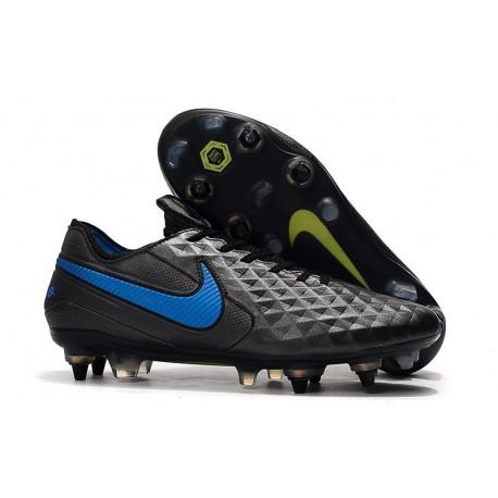 Chaussures Nike Tiempo Legend 8 Elite SG-Pro AC Noir Bleu
