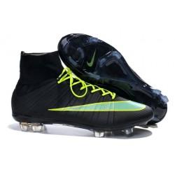 2015 Nike Mercurial Superfly 4 FG Crampons de Football Noir Vert