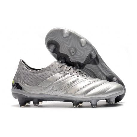Nouvelles Crampons de Foot - Adidas Copa 19.1 FG Argent Jaune Solaire