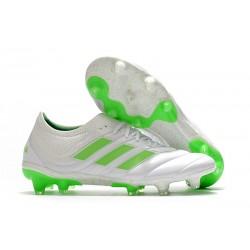 Nouvelles Crampons de Foot - Adidas Copa 19.1 FG Blanc Vert