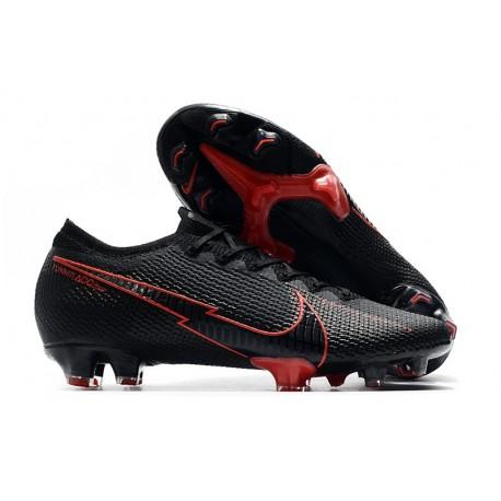 Nike Mercurial Vapor 13 Elite FG Homme Noir Rouge