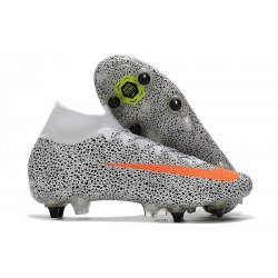 Nike Mercurial Superfly 7 Elite SG Anti Clog CR7 Safari-Blanc Orange Noir