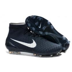 Nouveau Chaussures de Football Nike Magista Obra FG Bleu Foncé Blanc