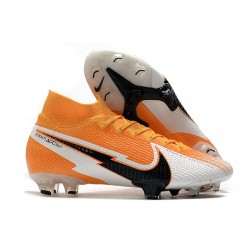 Nike Mercurial Superfly VII Elite 360 FG Orange Laser Noir Blanc