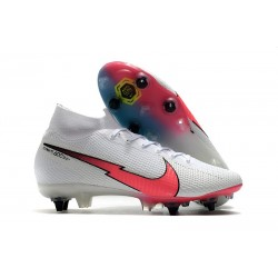 Nike Mercurial Superfly 7 Elite SG Anti Clog Blanc Rouge