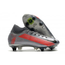 Nike Mercurial Superfly 7 Elite SG Anti Clog Neighbourhood - Gris Noir