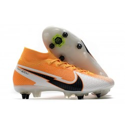 Nike Mercurial Superfly 7 Elite SG Anti Clog Daybreak - Orange Laser Noir Blanc