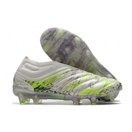 Chaussures Foot adidas Copa 20+ FG Blanc Noir Vert