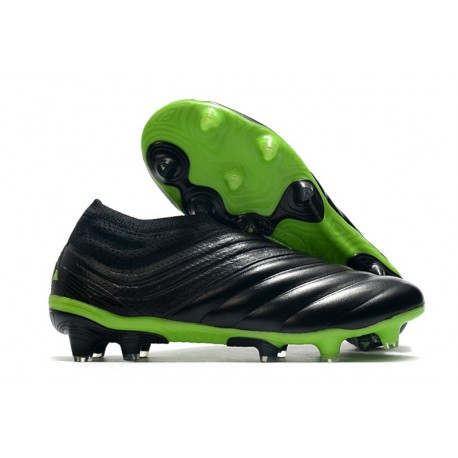 Chaussures Foot adidas Copa 20+ FG Noir Vert signal