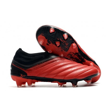 Chaussures Foot adidas Copa 20+ FG Rouge Blanc Noir