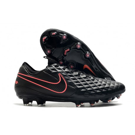 Nike Tiempo Legend VIII Elite FG Crampons Noir Rose