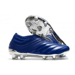 Chaussures Foot adidas Copa 20+ FG Bleu Royal Argent