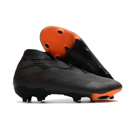 adidas Chaussures de Foot Nemeziz 19+ FG Noir Signal Orange