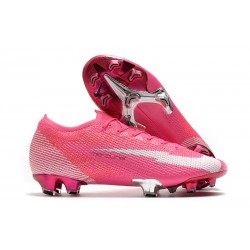 Nike Mercurial Vapor 13 Elite FG ACC x Mbappe Rose Blanc Noir