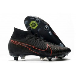 Nike Mercurial Superfly 7 Elite SG Anti Clog Noir Rouge