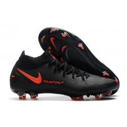 Nike Performance PHANTOM GT ELITE DF FG -Noir Rouge Chili Gris fumee