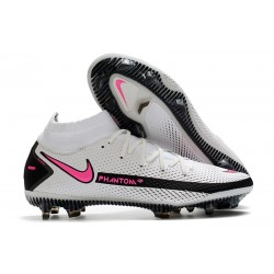 Nike Performance PHANTOM GT ELITE DF FG - Blanc Rose Noir