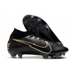 Nike Mercurial Superfly 7 Elite DF FG Noir Or