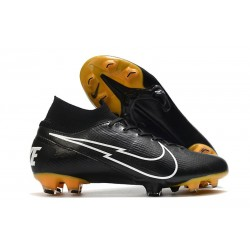Nike Mercurial Superfly 7 Elite DF FG Noir Blanc