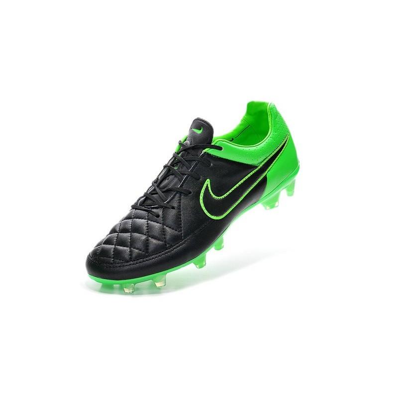 wholesale dealer 66ffd ad6f0 Nike Tiempo Legend V FG Chaussure de football sol dur pour Homme Noir Vert