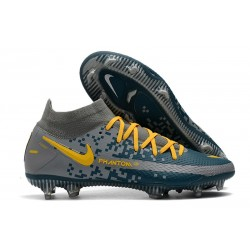 Nike Performance PHANTOM GT ELITE DF FG - Bleu Gris Jaune
