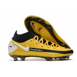 Nike Performance PHANTOM GT ELITE DF FG - Jaune Noir Blanc