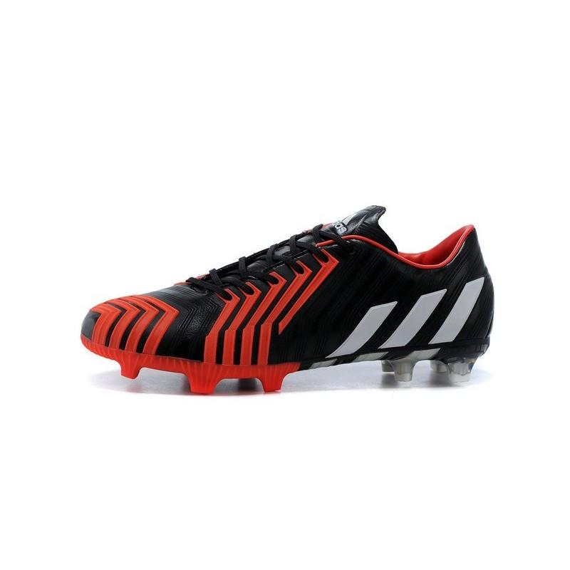 Nouvelle Adidas Pas Cher Chaussures Predator Instinct FG Noir Blanc Rouge