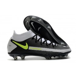 Nike Performance PHANTOM GT ELITE DF FG - Noir Gris Vert