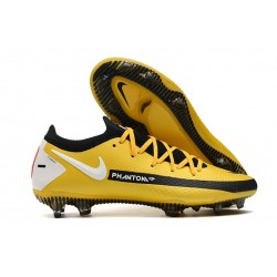 Nike Crampons Football Phantom GT Elite FG Jaune Noir Blanc