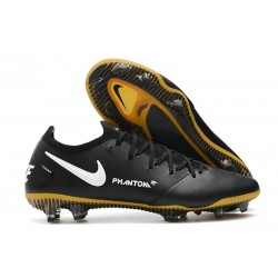 Nike Crampons Football Phantom GT Elite Tech Craft FG Noir Or