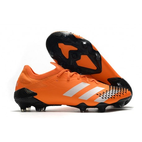 Neuf adidas Predator Mutator 20.1 Low FG Orange Blanc Noir