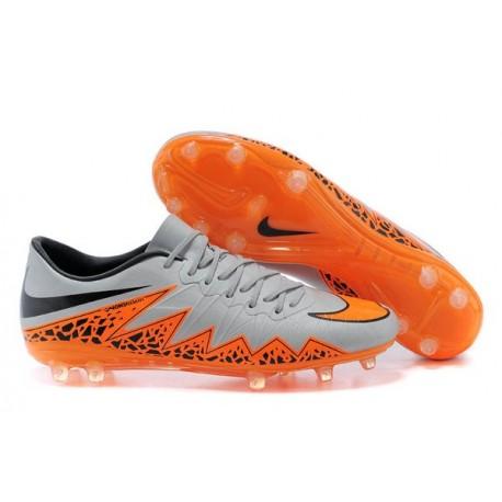 2014/2015 Nouvelle Nike Hypervenom Phantom ACC Premium FG Hommes Argenté Orange Noir