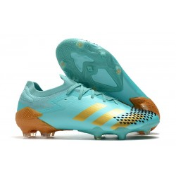 Neuf adidas Predator Mutator 20.1 Low FG Bleu Or