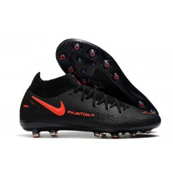 Nike Phantom GT Elite Dynamic Fit AG-PRO Noir Rouge Chili Gris fumee