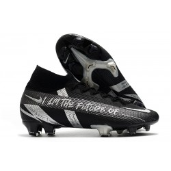 Crampon Nike Mercurial Superfly VII Elite FG Noir Argent