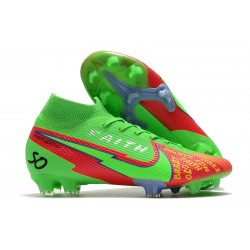 Crampon Nike Mercurial Superfly VII Elite FG Vert Rouge