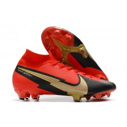 Crampon Nike Mercurial Superfly VII Elite FG Rouge Noir Or